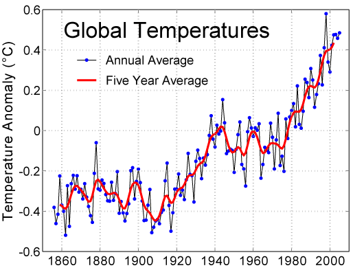 Instrumental temperature record over the twentieth century