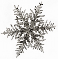 A falling snowflake can remain frozen at above freezing temperatures